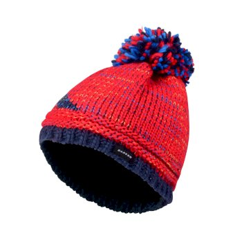 Kids Ice Champ Bobble Beanie Hat Code Red