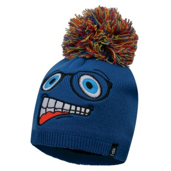 Boys' Brainstorm Animal Beanie Oxford Blue Face