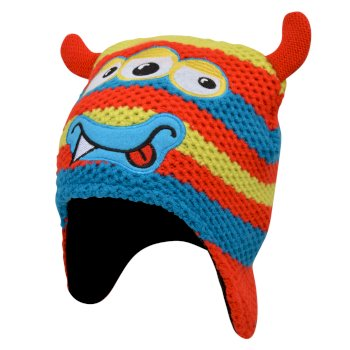 Boys' Brainstorm Animal Beanie Fiery Red Monster