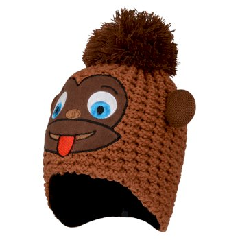 Boys' Brainstorm Animal Beanie Pecan Monkey