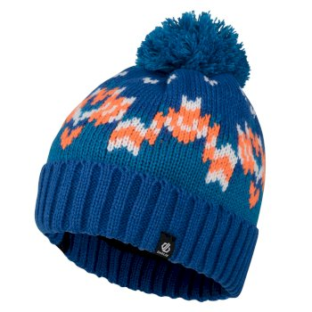 Bonnet pompon Junior Garçon AGITATE Bleu