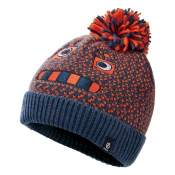 Boys' Brainstorm II Fleece Lined Knit Beanie Dark Denim Robot