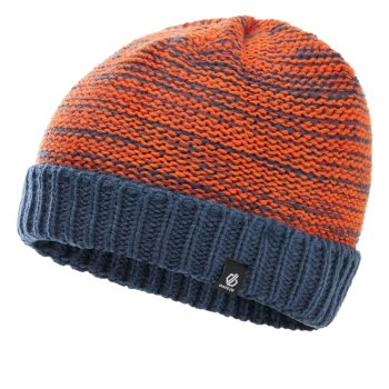 Boys' Hilarity Fleece Lined Knit Beanie Dark Denim Blaze Orange