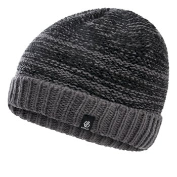 Boys' Hilarity Fleece Lined Knit Beanie Black Aluminum Grey