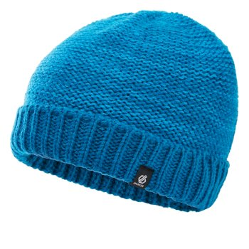 Boys' Hilarity Fleece Lined Knit Beanie Petrol Blue Methyl Blue