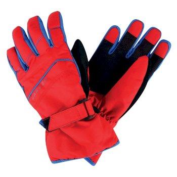 Kids Flag Down II Ski Gloves Code Red
