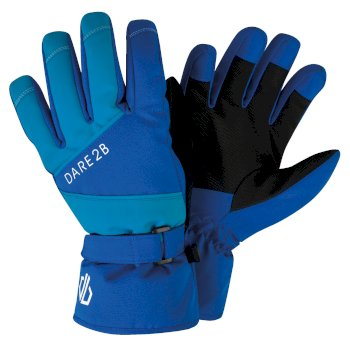 Boys' Fulgent Stretch Ski Gloves Oxford Blue