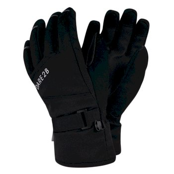 Boys' Fulgent Stretch Ski Gloves Black