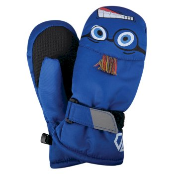 Boys' Brainstorm Animal Ski Mitts Oxford Blue Face