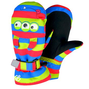 Boys' Brainstorm Animal Ski Mitts Fiery Red Monster