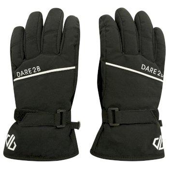 Boys' Unbeaten Insulated Ski Gloves Black