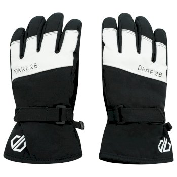 Boys' Unbeaten Waterproof Breathable Ski Gloves Black White