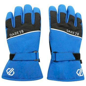 Boys' Unbeaten Insulated Ski Gloves Lapis Blue Black