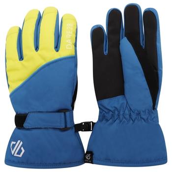 Boys' Mischievous II Waterproof Ski Gloves Dark Denim Dak Methyl Blue