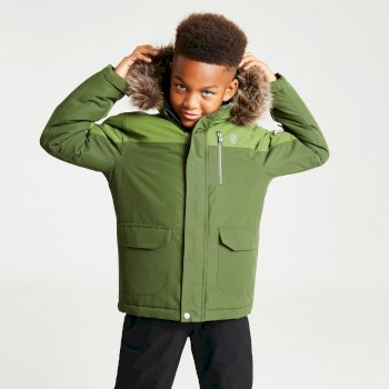 Boys' Furtive Fur Trimmed Ski Jacket Mantis Racing Green