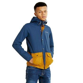 Kids Prescript Waterproof Shell Jacket Admiral Blue Gold Blaze
