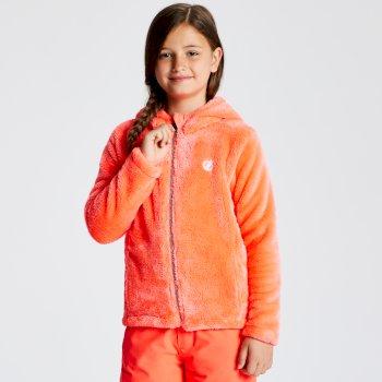 Polaire technique et design Junior Fille PRELIM avec capuche Orange