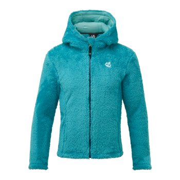 Girls' Prelim Full Zip Hooded Fleece Ceramic Blue