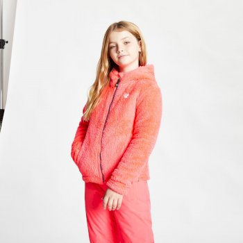 Girls' Prelim Full Zip Hooded Fleece Neon Pink