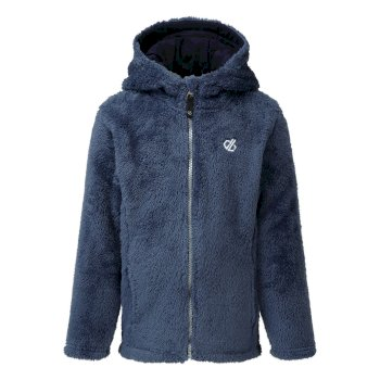 Girls' Prelim Full Zip Hooded Fleece Dark Denim