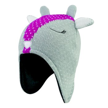 Girls' Brainwave Animal Beanie Grey Deer