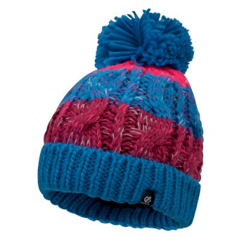 Bonnet pompon Junior Fille LIVELY Bleu