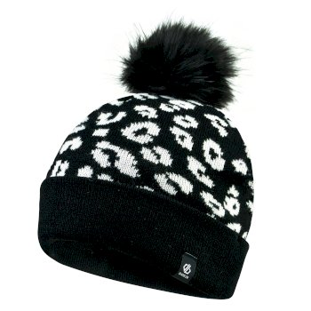 Girls' Convince Metallic Bobble Hat Black