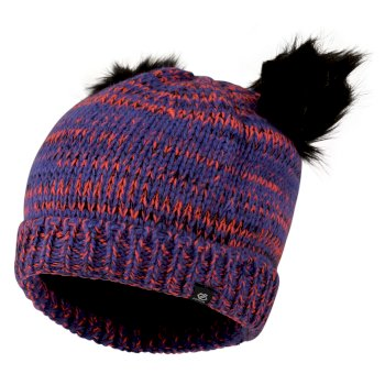Girls' Hastily Bobble Hat Simply Purple Fiery Coral