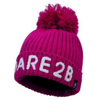 Girls' Indication Dare2b Bobble Hat Fuchsia