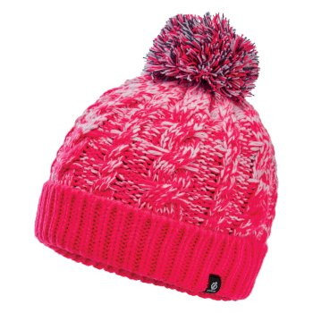 Bonnet polaire tricoté Junior Fille LIVELY  II avec pompon  Rose