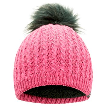 Girls' Creative Knit Beanie Raspberry Rose
