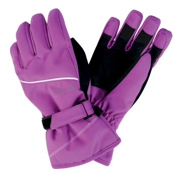 Kids Instruct Ski Gloves Ultra Violet Purple
