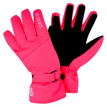Girls' Impish Ski Gloves Fiery Coral
