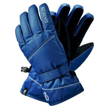 Girls' Impish Waterproof Insulated Ski Gloves Dark Denim