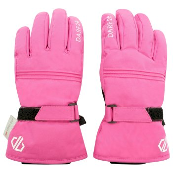 Girls' Liveliness Insulated Ski Gloves Raspberry Rose