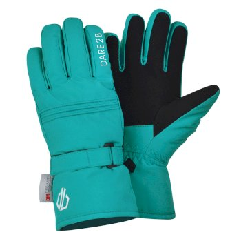 Girls' Liveliness Waterproof Breathable Ski Gloves Ceramic Blue