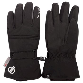 Girls' Liveliness Waterproof Breathable Ski Gloves Black