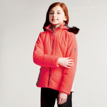Kids Prodigal Luxe Ski Jacket Fiery Coral