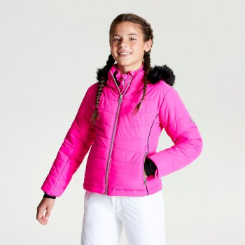 Girls' Predate Ski Jacket Cyber Pink