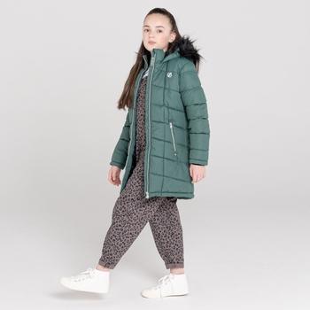 Girls' Striking Swarovski Embellished Waterproof Jacket Royal Green