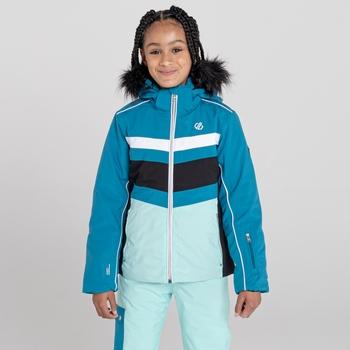 Girls' Belief Waterproof Ski Jacket Dark Methyl Black