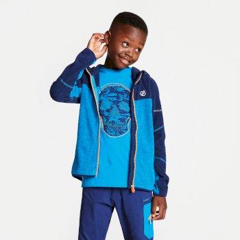 Kids' Ebullient Lightweight Hooded Fleece Atlantic Blue Clear Water