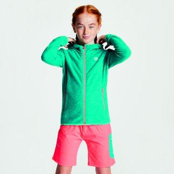 Kids' Ebullient Lightweight Hooded Fleece Caribbean Green