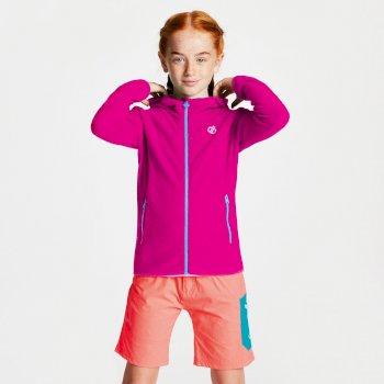 Kids' Ebullient Lightweight Hooded Fleece Cyber Pink