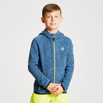 Polaire légère à capuche Junior ENLIST avec ouverture zippée Bleu