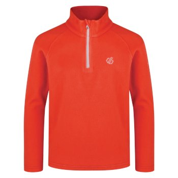 Kids' Freehand Half Zip Lightweight Fleece Fiery Coral