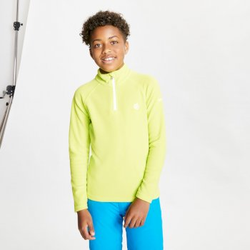 Kids' Freehand Half Zip Lightweight Fleece Lime Punch