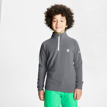 Kids' Freehand Half Zip Lightweight Fleece Aluminium Grey