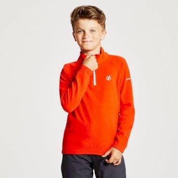 Polaire légère Junior FREEHAND avec ouverture 1/2 zip Rouge