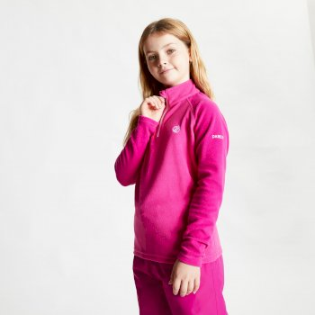 Kids' Freehand Half Zip Lightweight Fleece Active Pink Fuchsia Pink